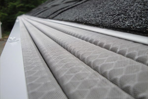 Close up of gutter protection gaurds by Leaf Solution